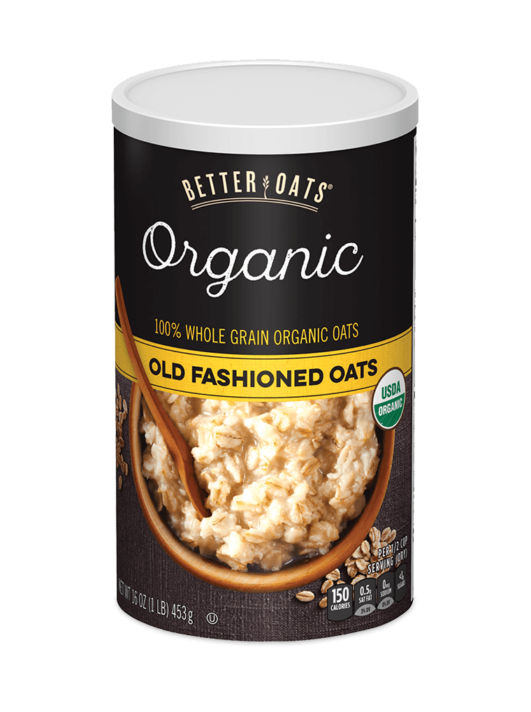 Better Oats Organic Old Fashioned Oats Instant Oatmeal tub image