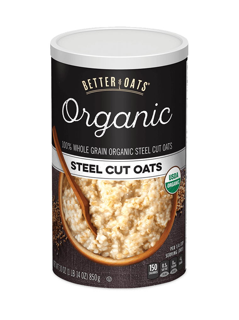Better Oats Organic Steel Cut Oats Instant Oatmeal tub image